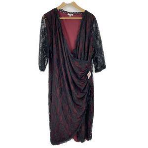 Kiyonna Dress Lace Gigi Surplice Wrap